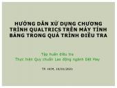 TẬP HUẤN VỀ VIỆC KHẢO SÁT LAO ĐỘNG NGÀNH DỆT MAY TẠI TP.HỒ CHÍ MINH
