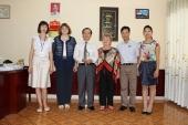 Làm việc với Trường Đại học Sư phạm Mát –xcơ-va và Trường Đại học quốc gia Ulyanovsk