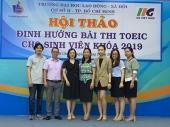 CSII - Trường ĐH Lao động - Xã hội và Tổ chức Giáo dục IIG Việt Nam tổ chức Hội thảo Định hướng bài thi TOEIC cho sinh viên khóa 2019